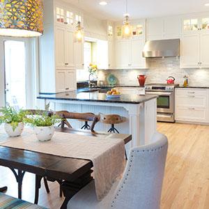 interior drone photography kitchen
